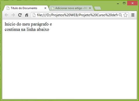 Curso de HTML - Exemplo de tags