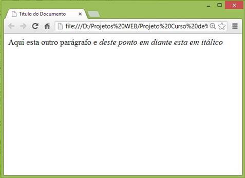Curso de HTML - Exemplo de itálico