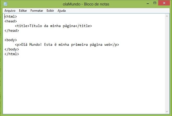 Curso de HTML - HTML básico no Bloco de Notas