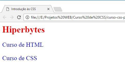 Curso de CSS - Estilo incorporado