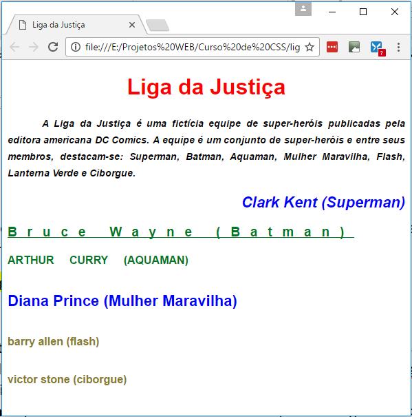 Curso de CSS - Estilização de Textos