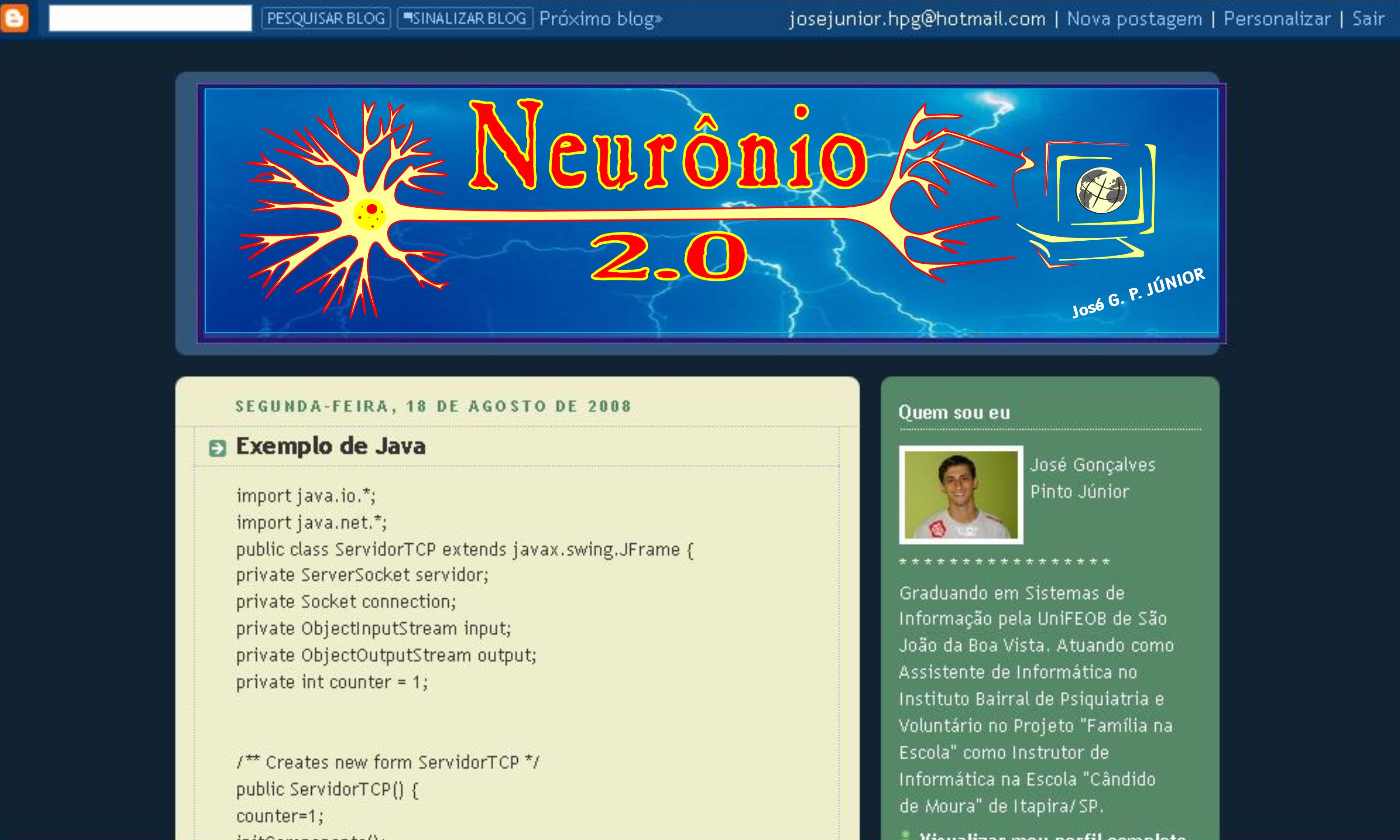Blog Neurônio 2.0 - Primeira Versão