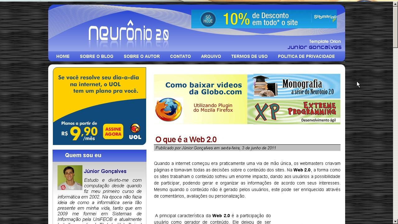 Blog Neurônio 2.0 - Quarta Versão